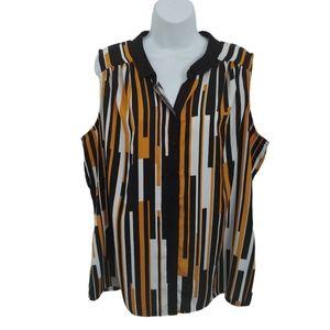 Worthington Retro Style Blouse, Sleeveless, 1X